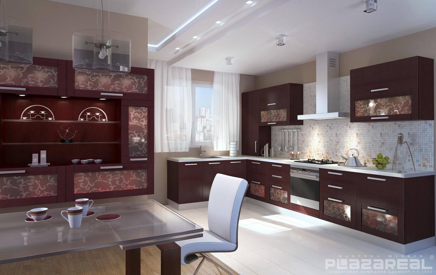 красивые угловые кухни фото дизайн